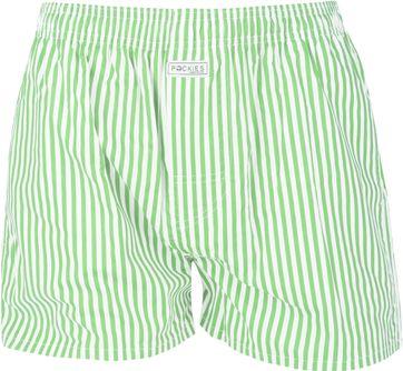 Pockies Boxershort Grün Streifen