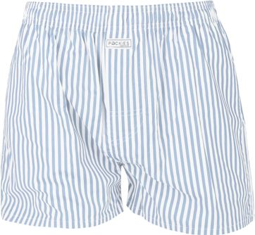 Pockies Boxershort Light Blue Stripes