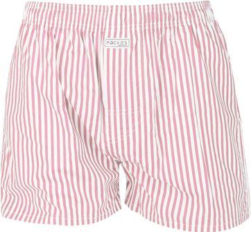 Pockies Boxershort Pink Streifen
