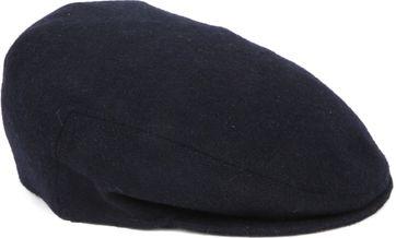 Profuomo Baskenmütze gewoben Melange Navy