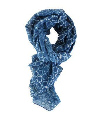 Profuomo Blau Motiv Schal