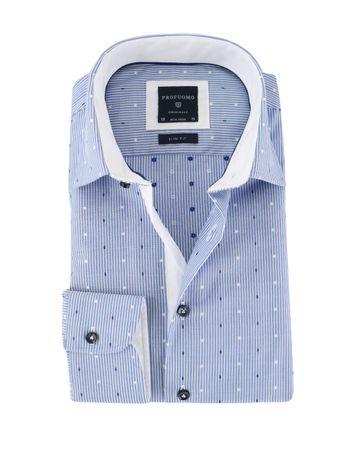 Profuomo Blau Streifen Hemd