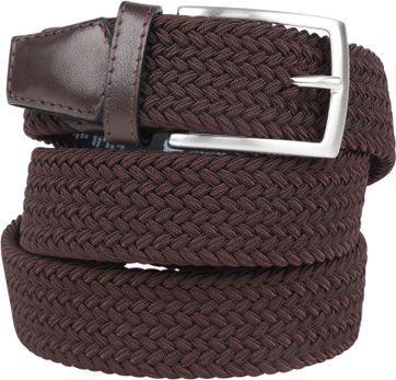 Profuomo Braided Belt Brown