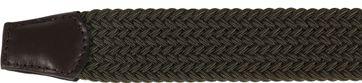Profuomo Braided Belt Green