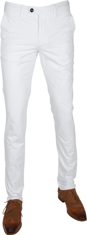 Profuomo Chino Garment DYE Weiß