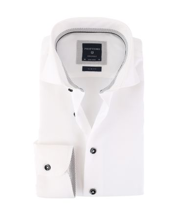 Profuomo Cutaway Overhemd Wit