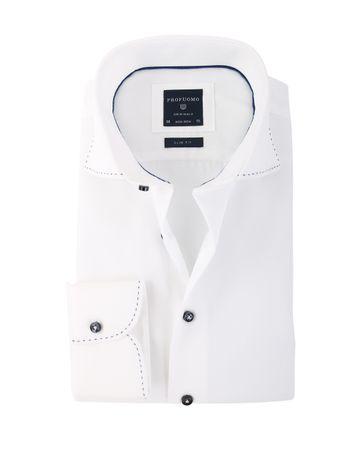 Profuomo Cutaway Shirt Wit