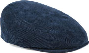 Profuomo Flat Cap Corduroy Navy