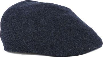 Profuomo Flat Cap Herringbone Navy