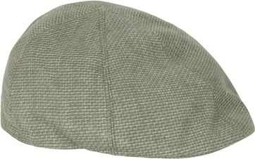 Profuomo Flat Cap PPSC10011B Woven Green