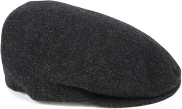 Profuomo Flat Cap Woven Anthracite