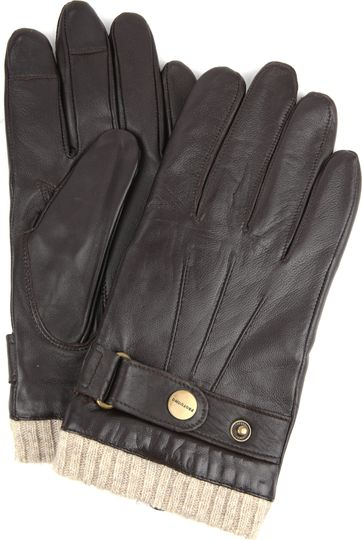 Profuomo Gloves Smooth Leather Brown