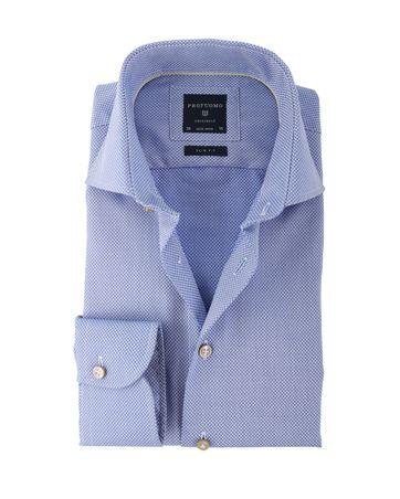 Profuomo Hemd Blau Motiv Bügelfrei