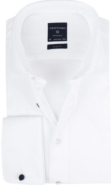 Profuomo Hemd Cutaway Doppel Manschette Weiß