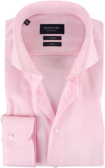 Profuomo Hemd Cutaway Pink