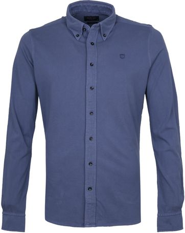 Profuomo Hemd Garment Dyed Button Down Blau