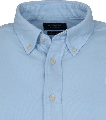 Profuomo Hemd Garment Dyed Button Down Hellblau