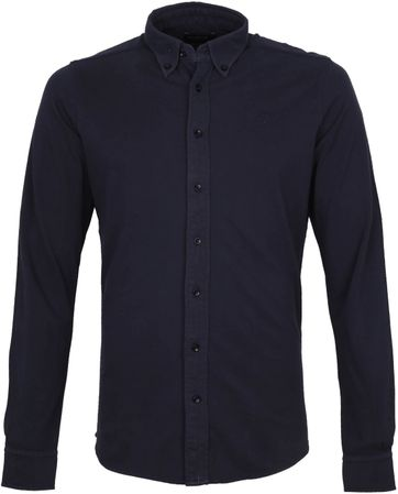 Profuomo Hemd Garment Dyed Button Down Navy
