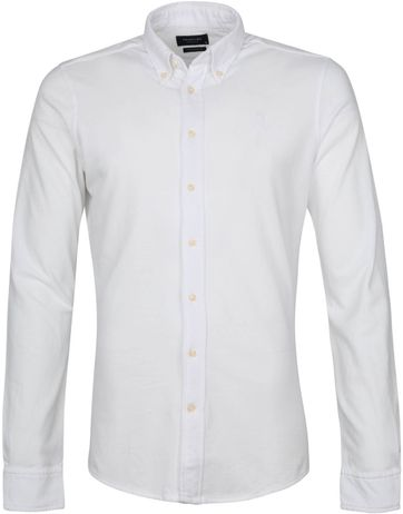 Profuomo Hemd Garment Dyed Button Down Weiß