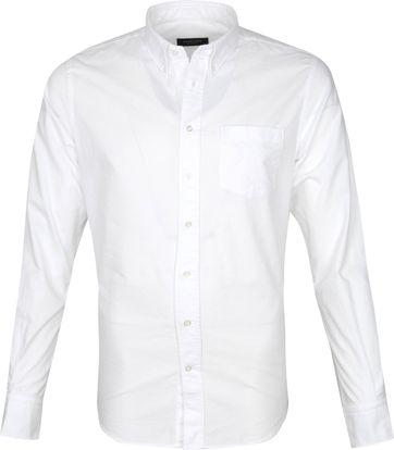 Profuomo Hemd Garment Dyed Wit