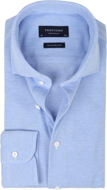 Profuomo Hemd Knitted Blauw