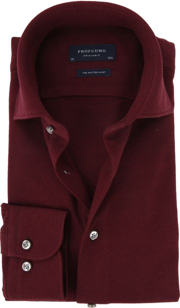 Profuomo Hemd Knitted Bordeaux