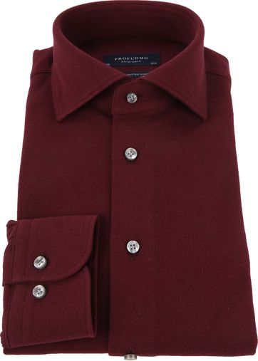 new product 9f9b5 bafd2 Profuomo Hemd Knitted Bordeaux PP0H0A052 online kaufen ...