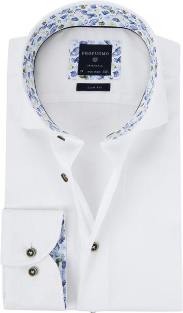 Profuomo Hemd SF Cutaway Weiß