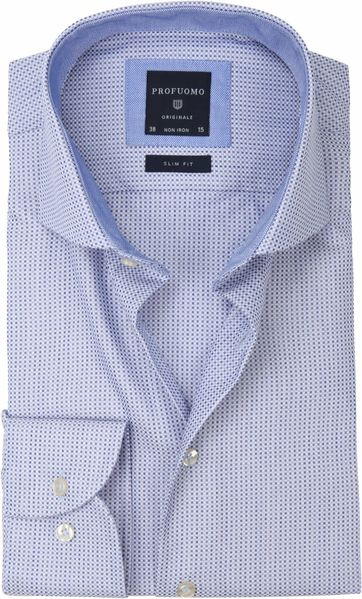 Profuomo Hemd Slim-Fit Oxfort Blau