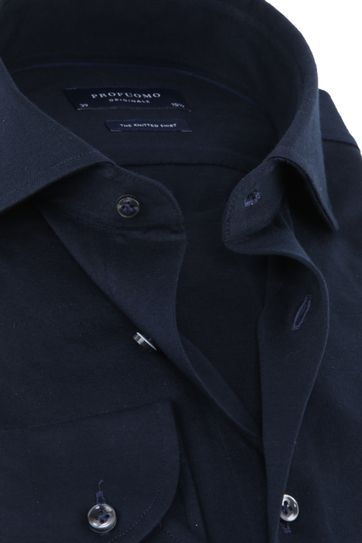 Profuomo Knitted Jersey Shirt Navy