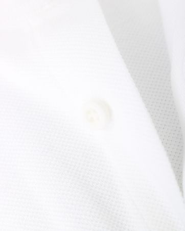Detail Profuomo Knitted Overhemd Wit