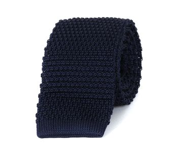 Profuomo Knitted Tie Wool Navy