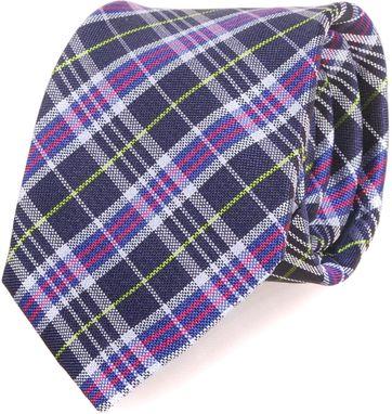 Profuomo Krawatte Lila Checks 066B