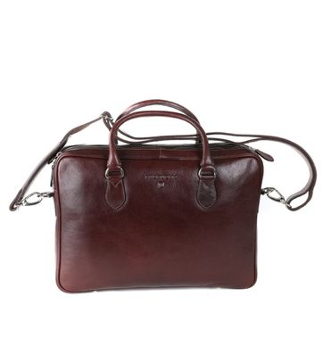 Profuomo Laptop Bag Leather Brown