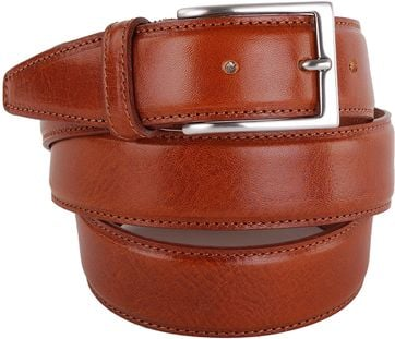 Profuomo Leather Belt Cognac