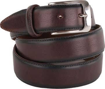 Profuomo Leather Belt Polish Brown