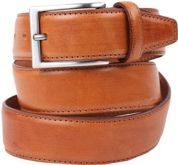 Profuomo Leather Cognac Belt