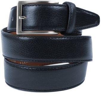Profuomo Leather Dark Blue Belt