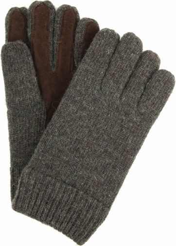 Profuomo Leather Gloves Green