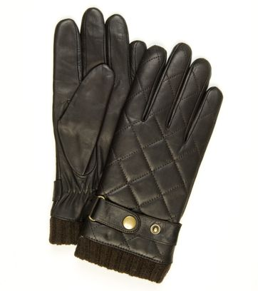 Profuomo Leather Gloves Nappa Brown