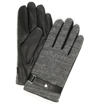 Profuomo Leather Gloves Nappa Grey