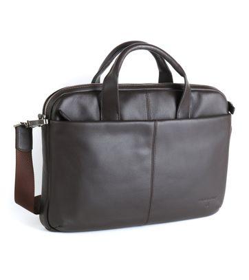 Profuomo Leather Laptop Bag Brown