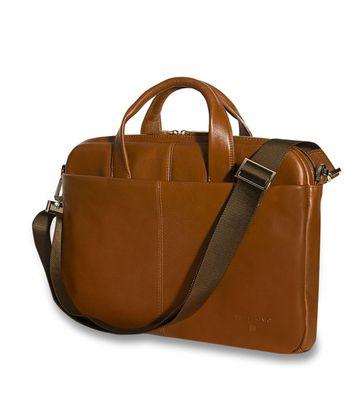 Profuomo Leather Laptop Bag Cognac