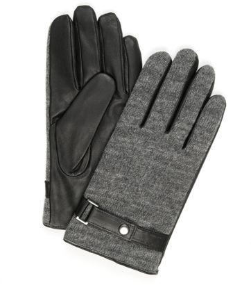 Profuomo Leder-Handschuh Nappa Grau
