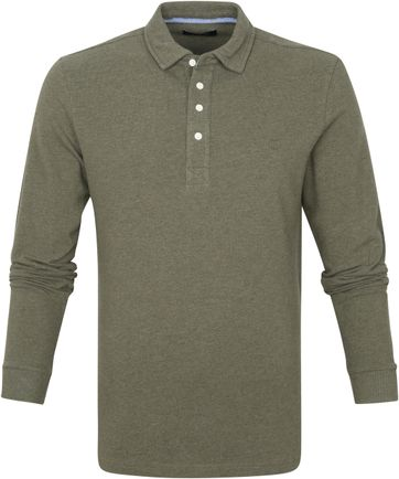 Profuomo Long Sleeve Polo Shirt Green