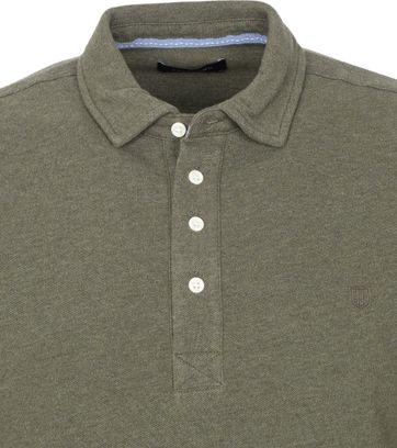 Profuomo Long Sleeve Polo Shirt Green