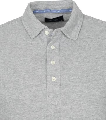 Profuomo Long Sleeve Polo Shirt Light Grey