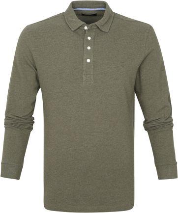 Profuomo Long Sleeve Poloshirt Grün