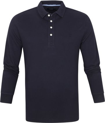 Profuomo Long Sleeve Poloshirt Navy