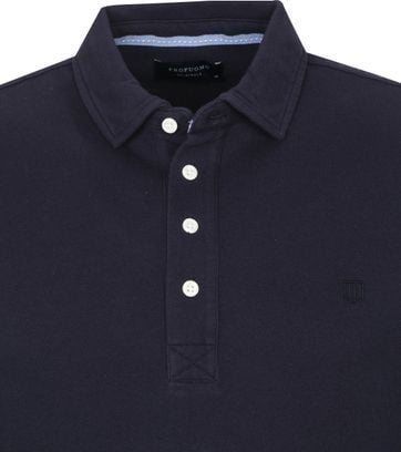 Profuomo Long Sleeve Poloshirt Navy